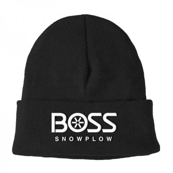 The Boss Black Knit Cuffed Hat
