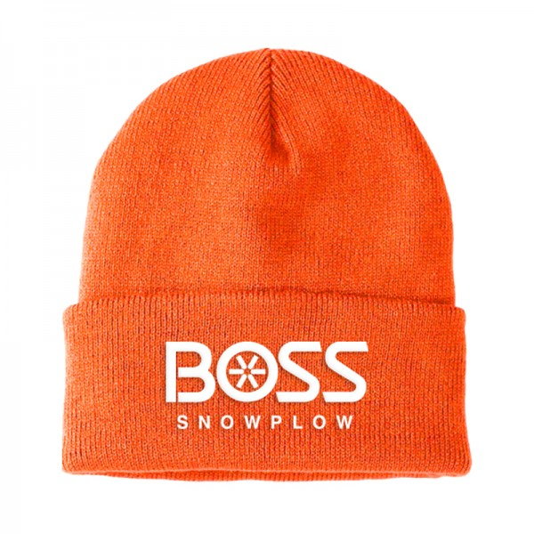 The Boss Orange Knit Cuffed Hat